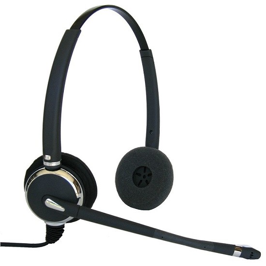 Connect MAX 602 Dual Ear Corded Headset for Panasonic
