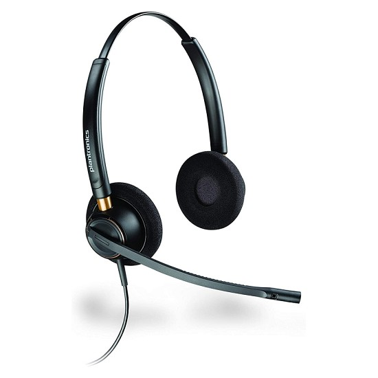 Plantronics HW520 EncorePro Binaural Noise Canceling Headset  for GE