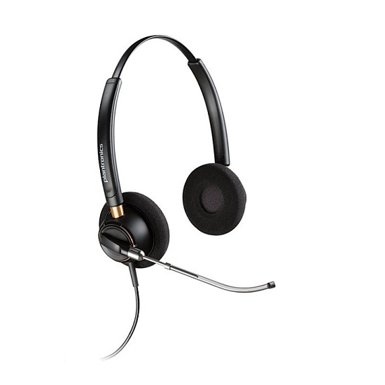 Plantronics HW520V EncorePro Binaural Voice Tube Headset  for 3Com